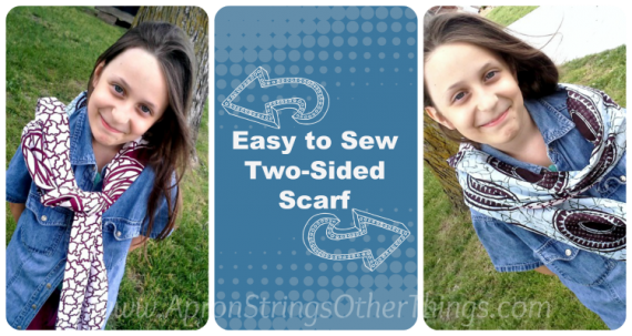 Easy to Sew Two-Sided Scarf title - Apron Strings other things