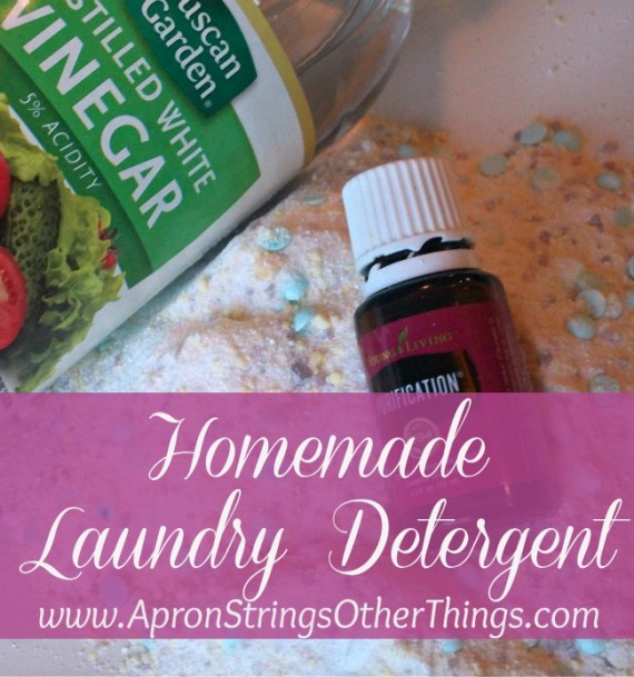 Homemade Laundry Detergent at ApronStringsOtherThings