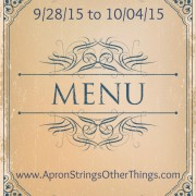 Weekly Menu Plan 9.28.15