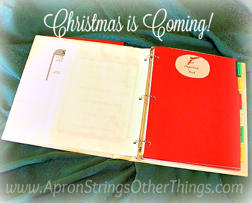 I.R.L. Christmas Binder at ApronStringsOtherThings.com