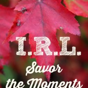 I.R.L. Savor the Moments