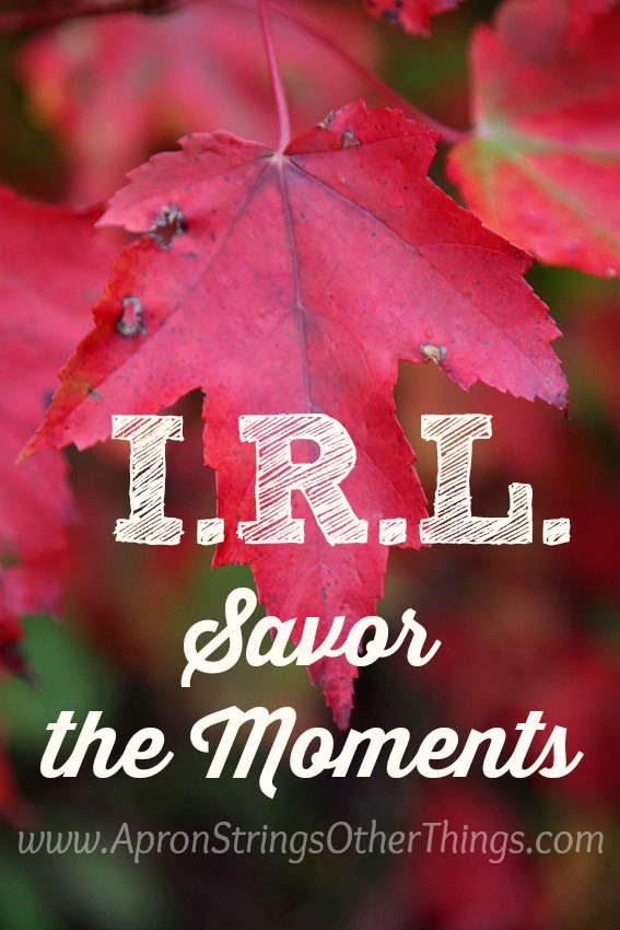 I.R.L. Savor the Moments at ApronStringsOtherThings.com
