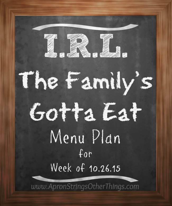 I.R.L. The Family's Gotta Eat at ApronStringsOtherThings.com