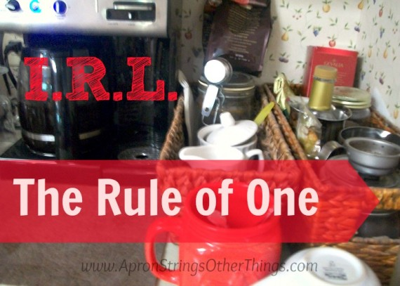 I.R.L. The Rule of One at ApronStringsOtherThings.com
