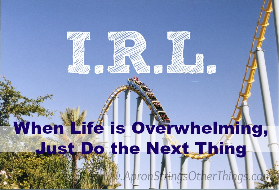 I.R.L. When Life is Overwhelming, Just Do the Next Thing at ApronStringsOtherThings.com