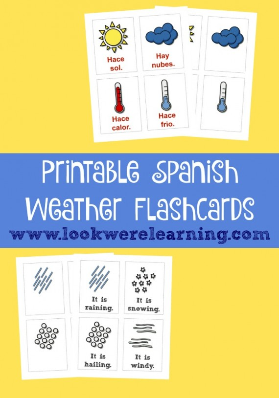 hfh 12.3.15 Printable-Spanish-Flashcards-Weather-@-Look-Were-Learning