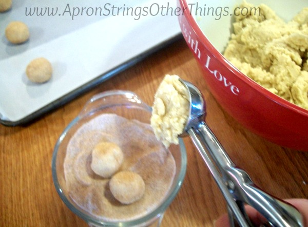 Cookie Scoop Snickerdoodles at ApronStringsOtherThings.com #CookUpFun #PersonalCreations