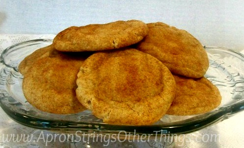 Snickerdoodle cookie recipe at ApronStringsOtherThings.com