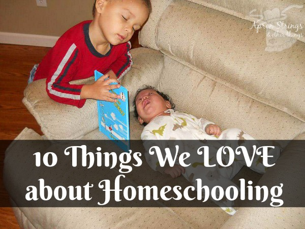 10 Things We LOVE about Homeschooling at ApronStringsOtherThings.com