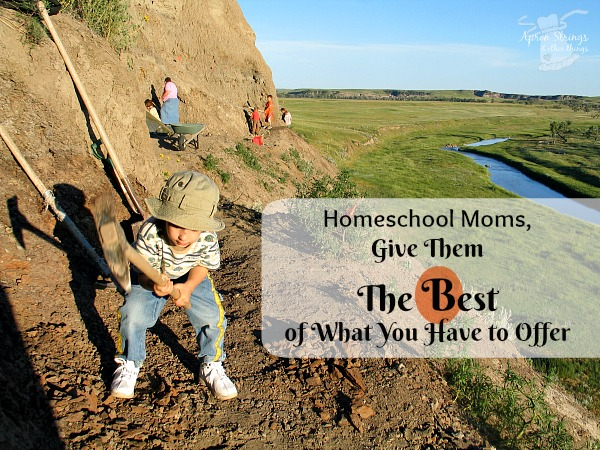 Homeschool Moms, Give Them The Best of What You Have to Offer Blogging Through the Alphabet B is for Best at ApronStringsOtherThings.com