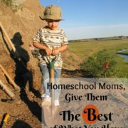 Homeschool Moms, Give Them The BEST of What You've Got