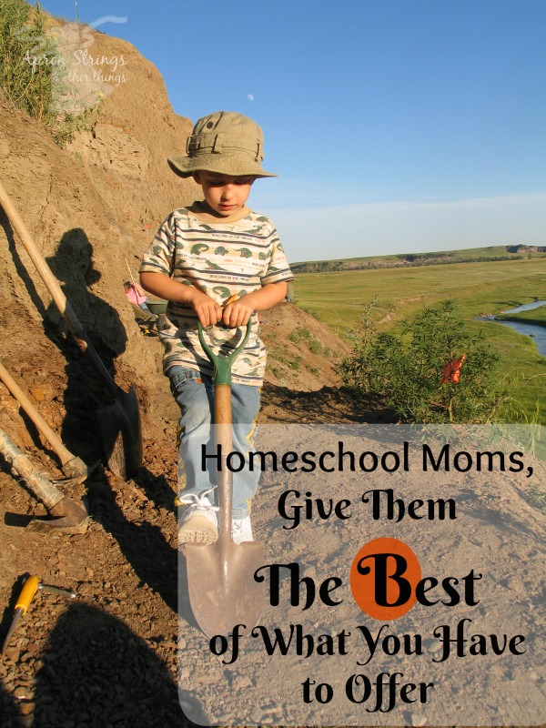 Homeschool Moms, Give Them The Best of What You Have to Offer Blogging through the Alphabet B at ApronStringsOtherThings.com pin