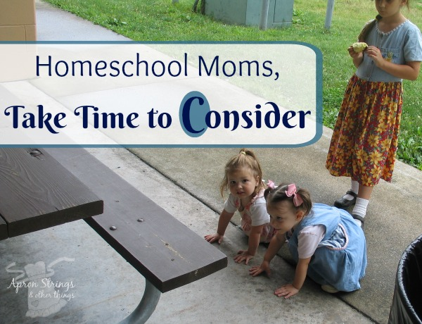 Homeschool Moms Take Time to Consider at ApronStringsOtherThings.com blogging through the alphabet