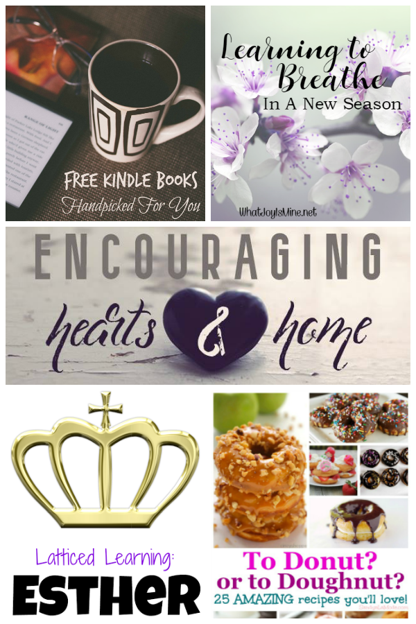 Encouraging Hearts and Home Featured Posts 2.2.17 at ApronStringsOtherThings.com