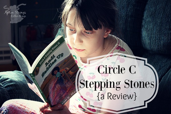 Circle C Stepping Stone Books {a Review} Andi Saddles Up Andi Big Top book series at ApronStringsOtherThings.com