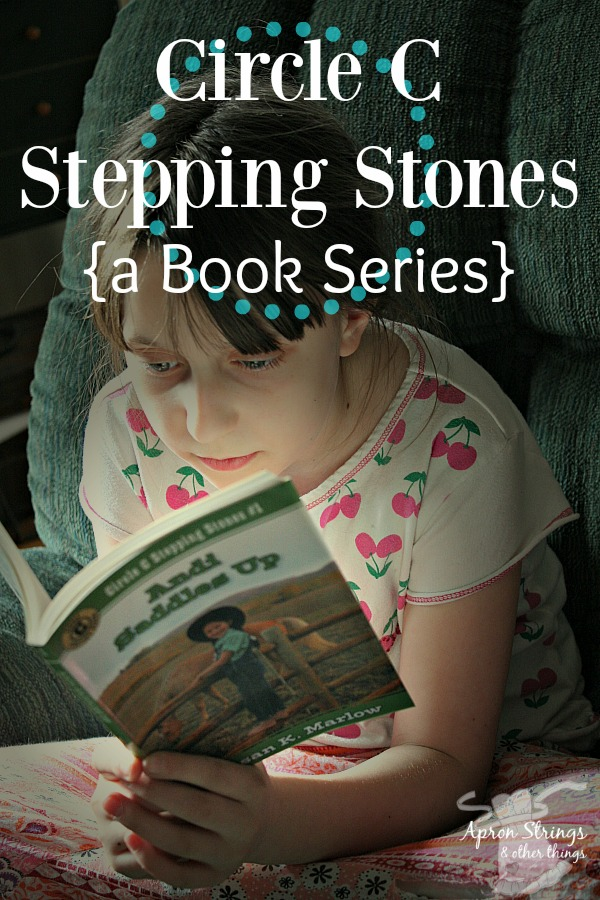 Circle C Stepping Stones Book Series {a Review} at ApronStringsOtherThings.com Andi Saddles Up Andi under the Big Top