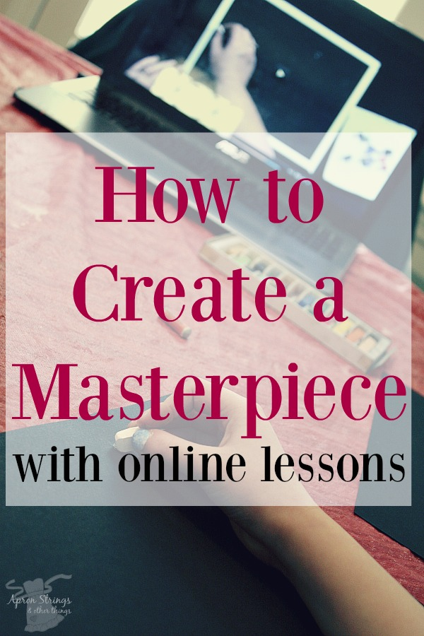 How to Create a Masterpiece with Online Lessons from Creating a Masterpiece a review at ApronStringsOtherThings.com