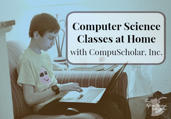 Computer Science Classes at Home with CompuScholar, Inc a Homeschool Review Crew Review at ApronStringsOtherThings.com Digital Savvy Lessons