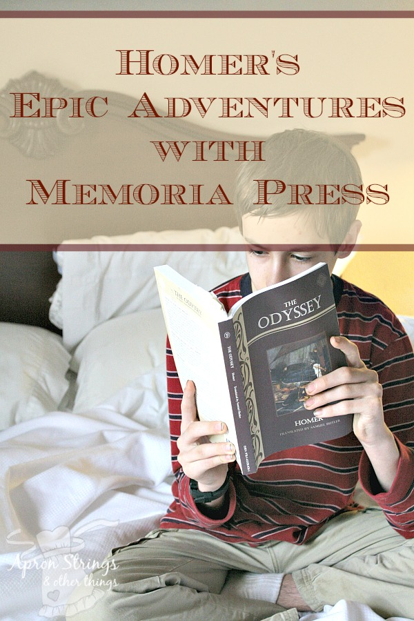 Homer's Epic Adventures with Memoria Press the Iliad and the Odyssey Complete Set Review at ApronStringsOtherThings.com