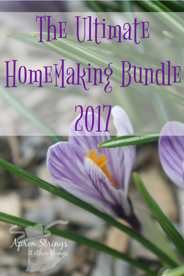 The Ultimate HomeMaking Bundle 2017 at ApronStringsOtherThings.com