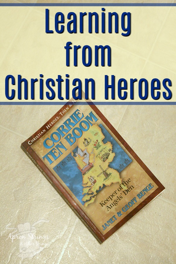 Corrie ten Boom Keeper of the Angels Den Christian Heroes Then & Now at ApronStringsOtherThings.com