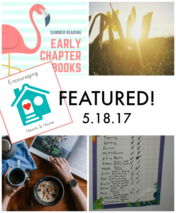 Encouraging Hearts & Home Blog Hop Featured 5.18.17 at ApronSTringsOtherThings.com