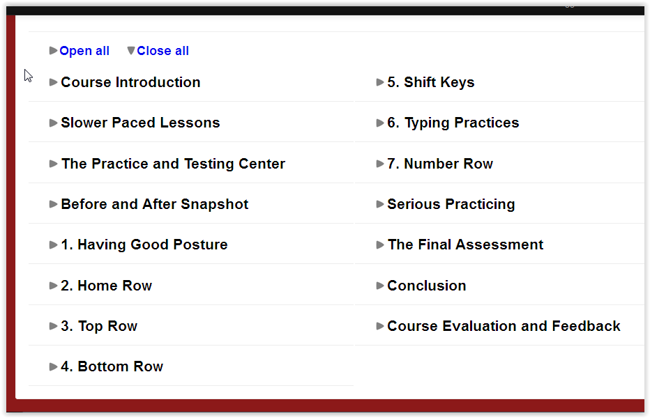 The Typing Coach Lessons Screen Shot at ApronStringsOtherThings.com