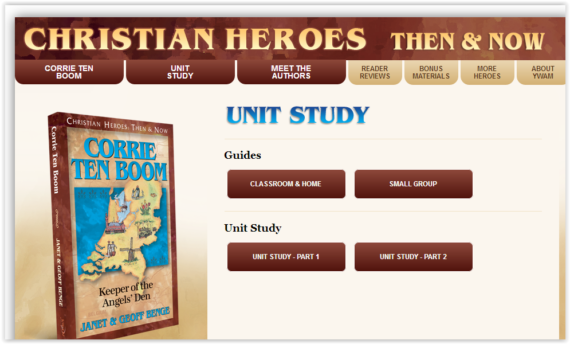 Screen Shot Christian Heroes Now & Then at ApronSTringsOtherThings.com