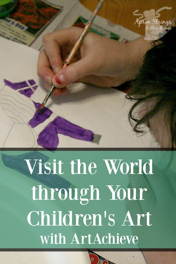 Visit the World through Your Children's Art with ArtAchieve Lessons in Drawing, Color, Culture at ApronStringsOtherThings.com