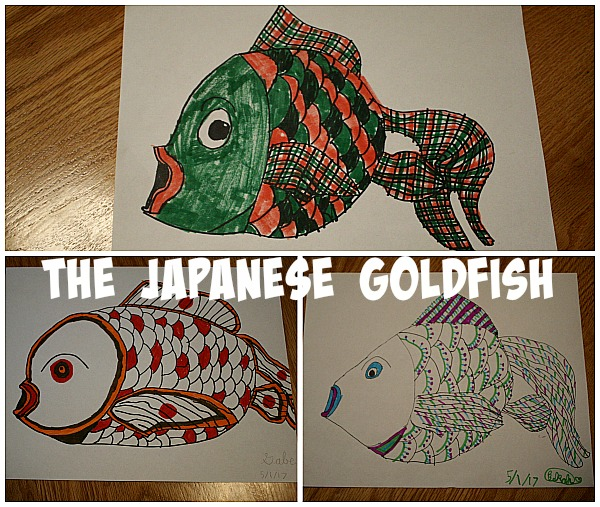Visit the World through Your Children's Art with ArtAchieve The Japanese Goldfish at ApronStringsOtherThings.com