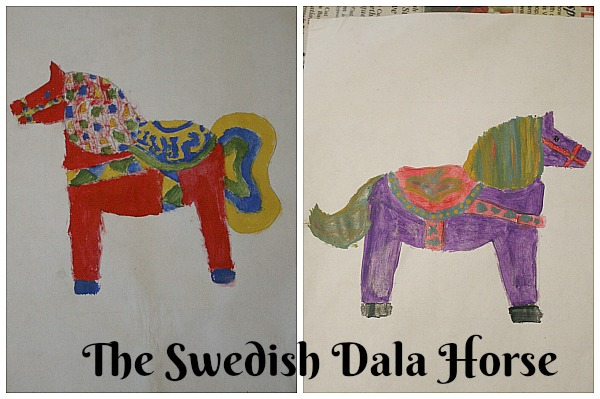 Visit the World through Your Children's Art with ArtAchieve The Swedish Dala Horse at ApronStringsOtherThings.com