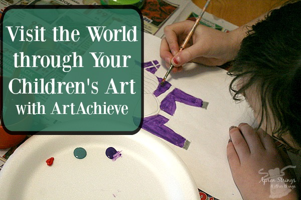Visit the World through Your Children's Art with ArtAchieve a review at ApronStringsOtherThings.com