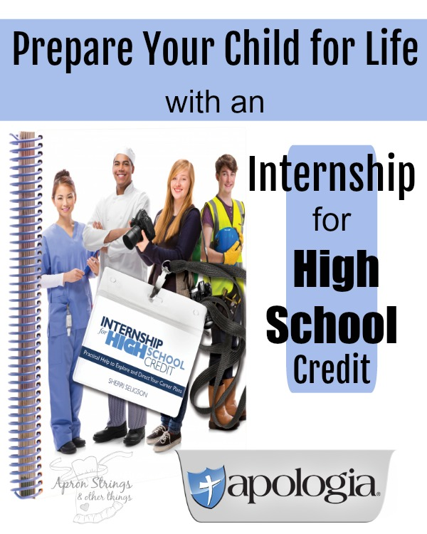 Prepare Your Kids for Life with Internship for High School Credit from Apologia Review at ApronStringsOtherThings.com