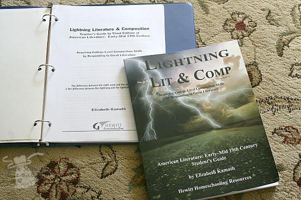Lightening Lit High School Hewitt homeschooling at ApronStringsOtherThings.com