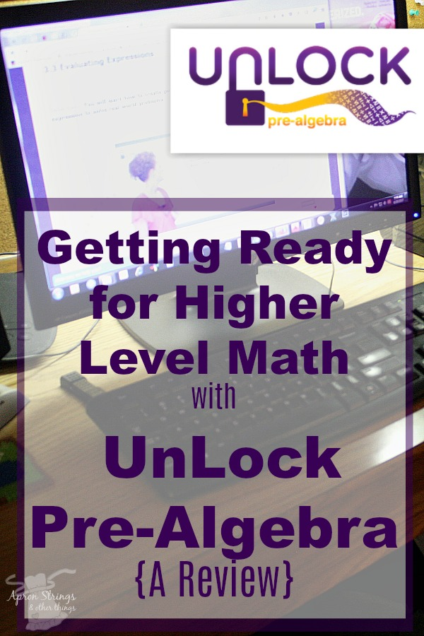 Pre-Algebra with UnLock MathOnline High School Courses at ApronSTringsOtherThings.com