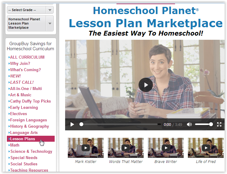 Screen Shot Lesson Plan Market Homeschool Planet at ApronStringsOtherThings.com