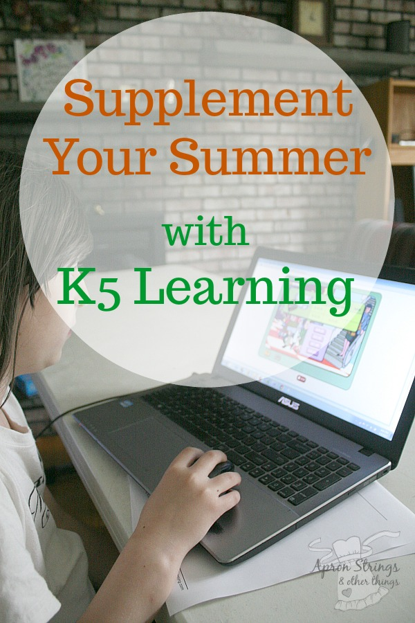 Summer School at Home with K5 Learning at ApronStringsOtherThings.com