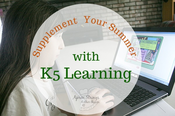 Supplement Your Summer with K5 Learning Online Curriculum at ApronStringsOtherThings.com fb