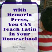 Studying Latin Will Enrich Your Homeschool {A Memoria Press Review}