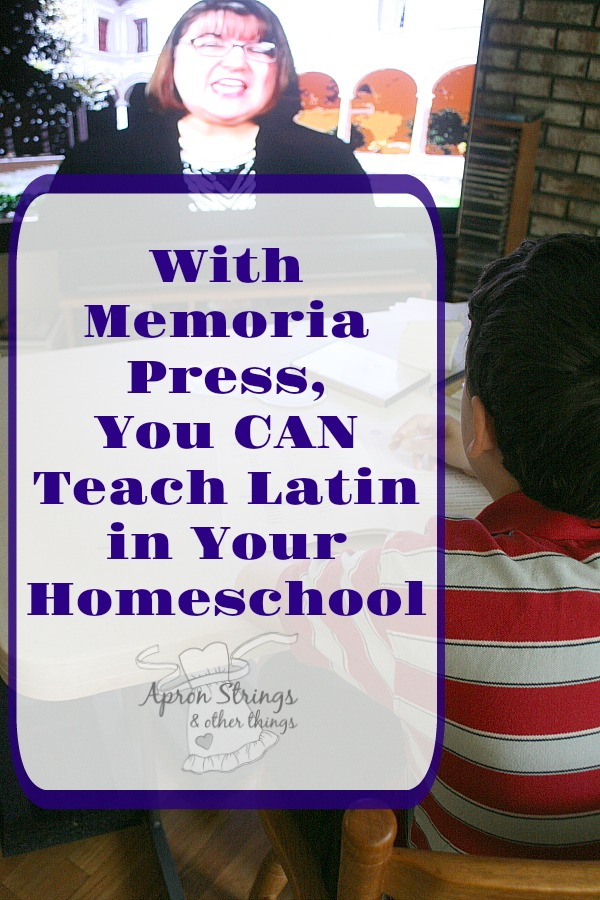 Teach Latin in Your Homeschool with Latina Christiana from Memoria Press at ApronStringsOtherThings.com
