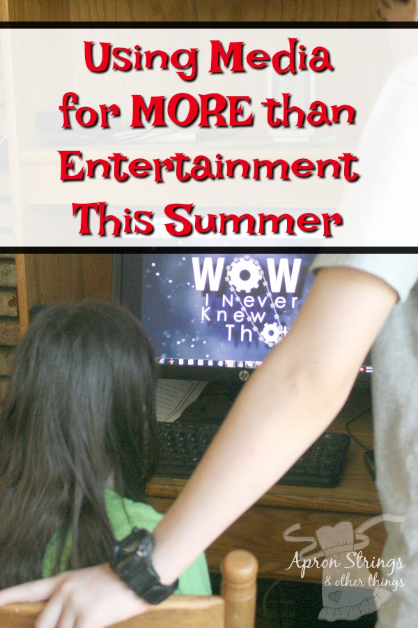 This Summer Use Media for More Than Just Entertainment at ApronStringsOtherThings.com