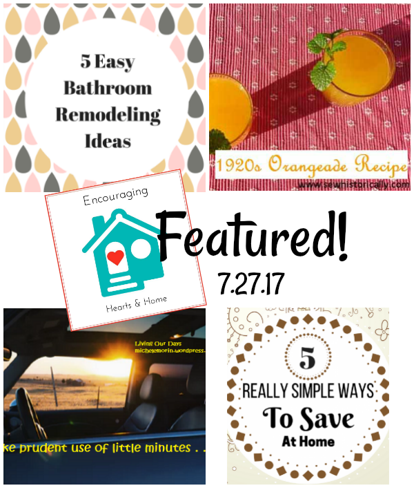 Featured Posts at Encouraging Hearts & Home Blog Hop 7.27.17 at ApronSTringsOtherThings.com