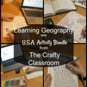 Learning Geography with U.S.A. Activity Bundle from The Crafty Classroom {a review}