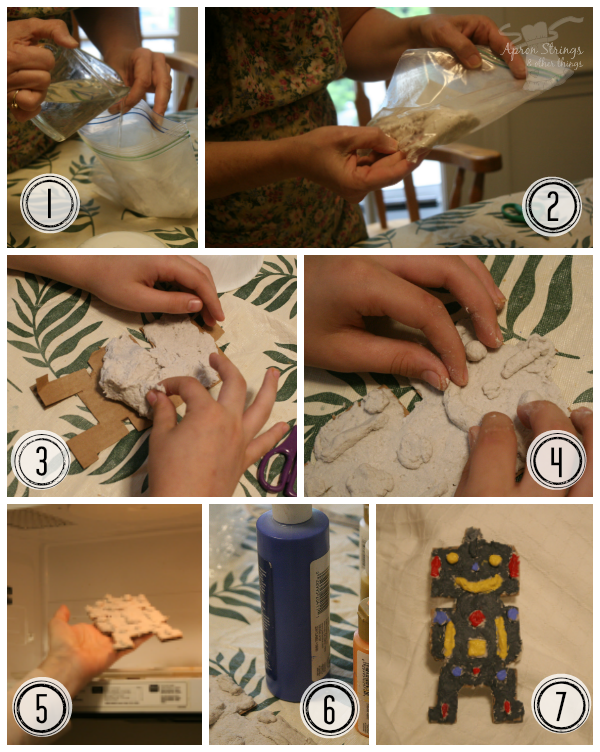 Paper Mache step by step Craft Project at ApronStringsOtherThings.com