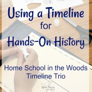 Teaching History with a Timeline from Home School in the Woods Timeline {A Review}