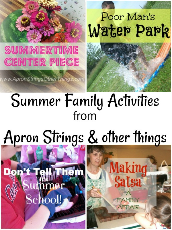 summer family activities ideas for fun at apronstringsotherthings.com
