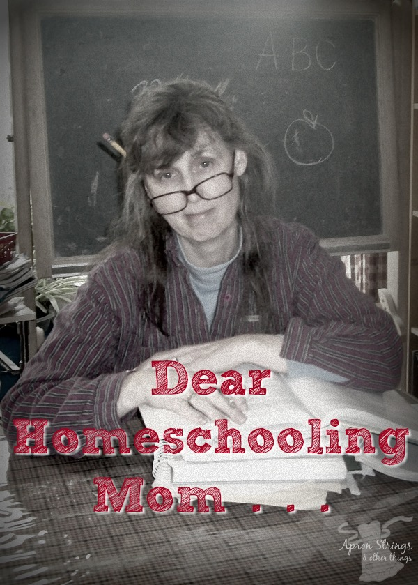 A Letter to All Homeschooling Moms Day 5 in Back to Home School Series at ApronSTringsOtherThings.com