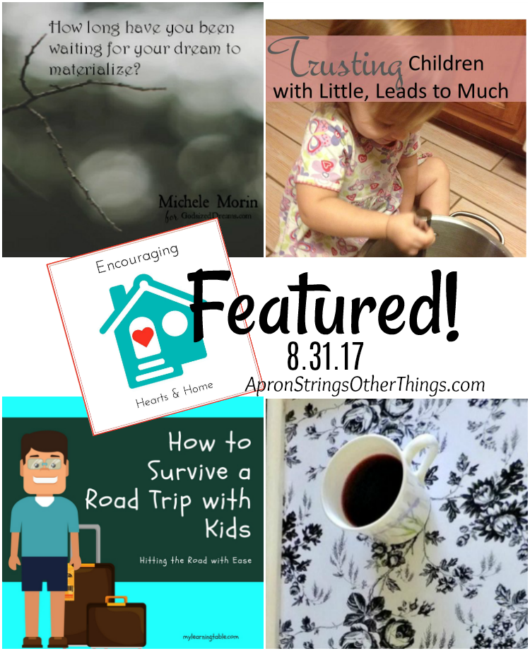 Encouraging Hearts & Home Blog Hop 8.31.17 Featured Posts at ApronSTringsOtherThings.com