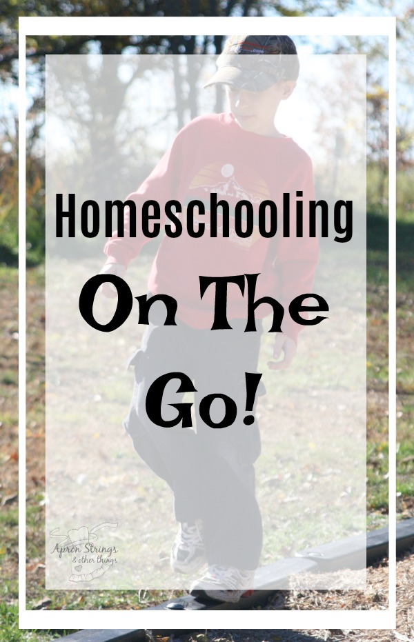 Homeschooling On The Go! 5 Day Series Back to Home School at ApronStringsOtherThings.com