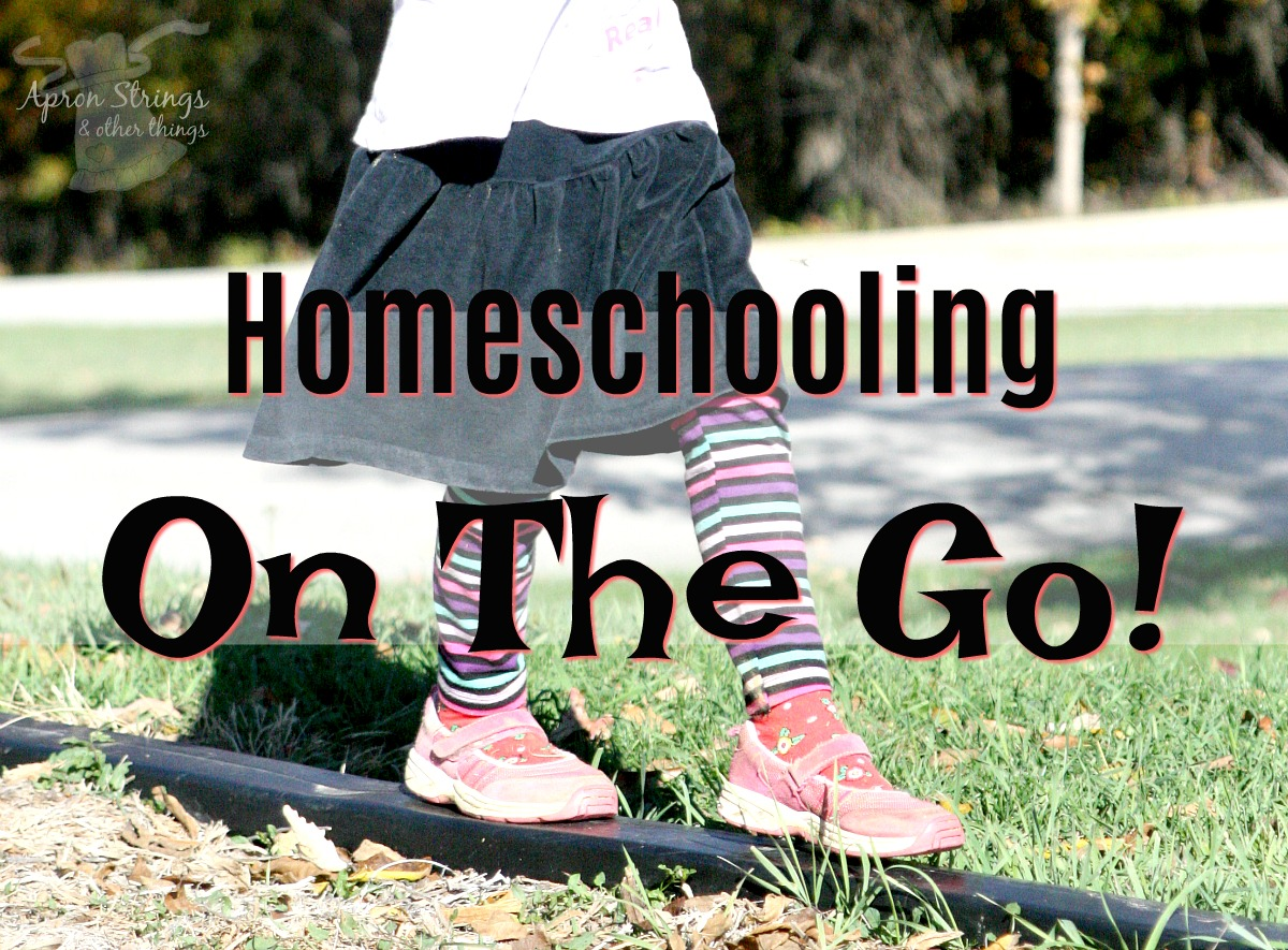 Homeschooling On The Go! Day 4 Back to Home School Series at ApronStringsOtherThings.com